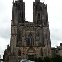 Photo taken at Cathédrale Notre-Dame de Coutances by Erik R. on 7/31/2013