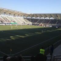 Photo taken at Estadio Bicentenario de La Florida by Felipe O. on 11/20/2012