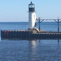Photo taken at St. Joseph South Pier (at Silver Beach) by Lisa M. on 5/24/2014