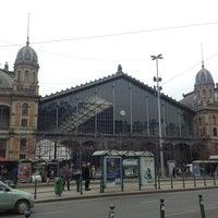 Photo taken at Nyugati tér by Lu B. on 2/17/2013