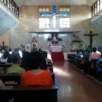 Photo taken at Gereja Katolik Salib Suci by Viky H. on 9/15/2013