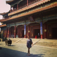 Photo taken at Yonghegong Lama Temple by Valentina K. on 9/2/2013