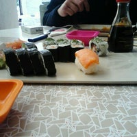 Photo taken at Origami Sushi Bar by Cyrine B. on 1/20/2013