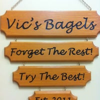 Photo taken at Vic's Bagels by Susan M. on 2/1/2013