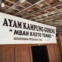 Photo taken at Ayam Goreng Kampung Mbah Karto by Adhi L. on 1/28/2016