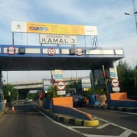 Photo taken at Gerbang Tol Kamal by Hendryco C. on 1/28/2013