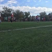 Photo taken at Tubman Elementary School Soccer Field by Jen F. on 10/23/2016
