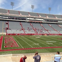 Photo taken at Donald W Reynolds Razorback Stadium by Marta H. on 4/20/2013