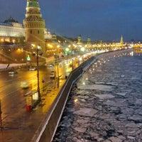 Photo taken at Bolshoy Kamenny Bridge by Andrey I. on 2/2/2013