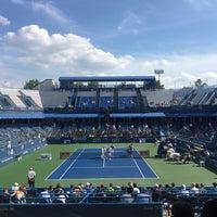 Photo taken at William H.G. Fitzgerald Tennis Stadium by Allen O. on 7/20/2016