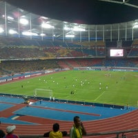 Photo taken at Stadium Nasional Bukit Jalil by Abdullah Hakim on 11/25/2012
