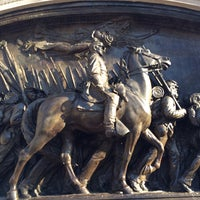 Photo taken at Robert Gould Shaw Memorial by Eric A. on 4/11/2015