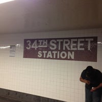 Photo taken at MTA Subway - 34th St/Penn Station (A/C/E) by Eric A. on 8/22/2013