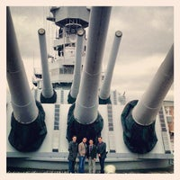 Photo taken at USS Wisconsin (BB-64) by Brandon A. on 3/6/2013