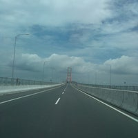 Photo taken at Suramadu Bridge by Irvan S. on 1/16/2013