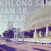 Photo taken at Khlong San Pier by niniiEw* p. on 1/18/2013
