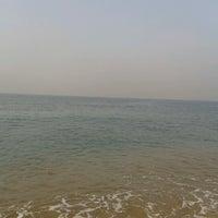 Photo taken at Kollam Beach by Monika T. on 2/9/2013