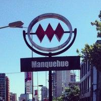 Photo taken at Metro Manquehue by Javier R. on 11/18/2012