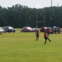 Photo taken at Corinth Soccer Fields by Erica M. on 9/6/2014
