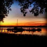 Photo taken at Skull Creek Boathouse by Chris B. on 10/23/2012