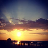 Photo taken at Frishman Beach by Olga M. on 1/11/2013