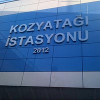 Photo taken at Kozyatağı Metro İstasyonu by Oğuzcan Y. on 3/1/2013