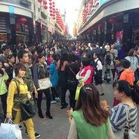 Photo taken at 东门步行街 Dongmen Pedestrian Zone by William K. on 12/8/2012