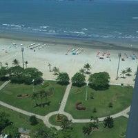 Photo taken at Praia do José Menino by Lincoln T. on 10/18/2012