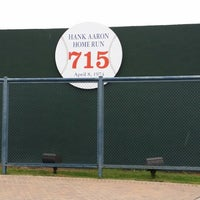 Photo taken at Hank Aaron 715 Home Run Marker by Bear T. on 6/11/2014