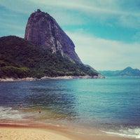 Photo taken at Praia Vermelha by Samira D. on 12/11/2012