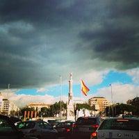 Photo taken at Plaza de Colón by LaCaprichossa (. on 2/8/2013