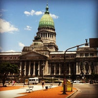 Photo taken at Plaza del Congreso by Natali on 1/11/2013
