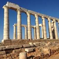 Photo taken at Cape Sounion by Natalia W. on 4/29/2013