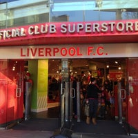 Photo taken at Liverpool FC Official Club Store by Ivan on 12/1/2012