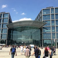 Photo taken at Berlin Hauptbahnhof by Konstantin S. on 5/19/2013