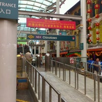 Photo taken at Chinatown MRT Interchange (NE4/DT19) by hsiukag on 1/7/2012