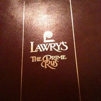 Photo taken at Lawry's The Prime Rib by Dominic L. on 12/21/2010