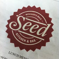 Photo taken at Seed Kitchen & Bar by Pedro S. on 3/31/2012