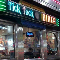 Photo taken at Tick Tock Diner by Jesse E. on 12/4/2011