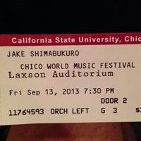 Photo taken at Laxson Auditorium by Roy L. on 9/14/2013