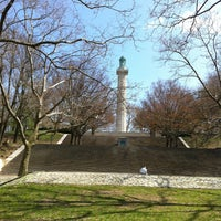 Photo taken at Fort Greene Park by Gabriel S. on 4/16/2013