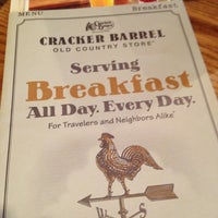Photo taken at Cracker Barrel Old Country Store by Chris R. on 12/28/2012