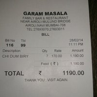 Photo taken at Garam Masala by Harshal A. on 2/28/2014