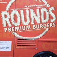 Photo taken at Rounds Premium Burgers Truck by Victoria G. on 3/22/2013