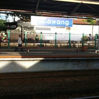Photo taken at Stasiun Cawang by Evik D. on 4/2/2016