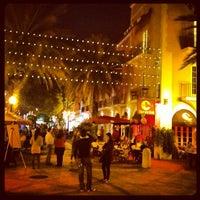 Photo taken at Espanola Way Village by Tarek H. on 12/1/2012