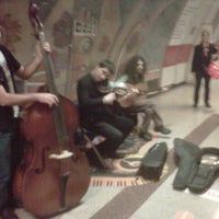 Photo taken at Şişli - Mecidiyeköy Metro İstasyonu by Emre D. on 11/15/2012