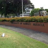 Photo taken at University of Hawai'i at Mānoa by Morita M. on 8/19/2013