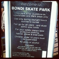 Photo taken at Bondi Skatepark by Camille D. on 11/18/2012