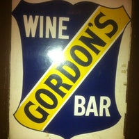 Photo taken at Gordon's Wine Bar by Phil T. on 11/10/2012
